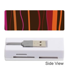 Colorful Striped Background Memory Card Reader (Stick)