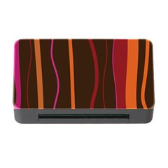 Colorful Striped Background Memory Card Reader with CF