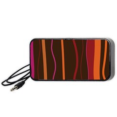 Colorful Striped Background Portable Speaker (Black)