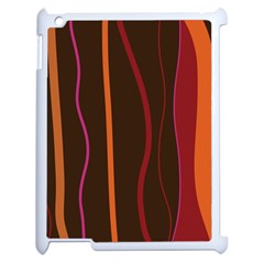 Colorful Striped Background Apple iPad 2 Case (White)