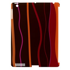 Colorful Striped Background Apple iPad 3/4 Hardshell Case (Compatible with Smart Cover)