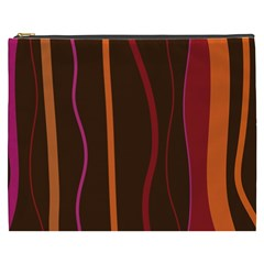 Colorful Striped Background Cosmetic Bag (XXXL)