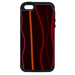 Colorful Striped Background Apple iPhone 5 Hardshell Case (PC+Silicone)