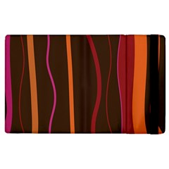 Colorful Striped Background Apple iPad 2 Flip Case
