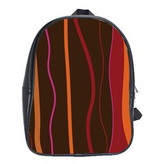 Colorful Striped Background School Bags (XL)