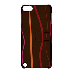Colorful Striped Background Apple iPod Touch 5 Hardshell Case with Stand