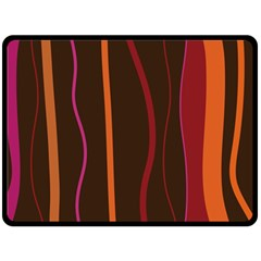 Colorful Striped Background Double Sided Fleece Blanket (Large)