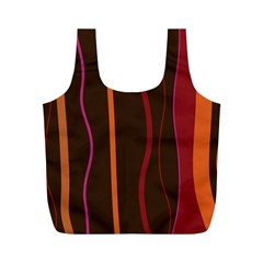Colorful Striped Background Full Print Recycle Bags (M)