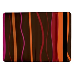 Colorful Striped Background Samsung Galaxy Tab Pro 12.2  Flip Case