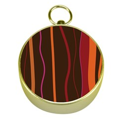 Colorful Striped Background Gold Compasses