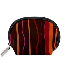 Colorful Striped Background Accessory Pouches (Small)