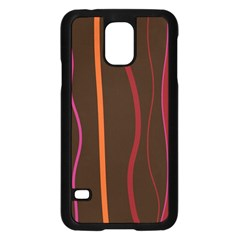 Colorful Striped Background Samsung Galaxy S5 Case (Black)