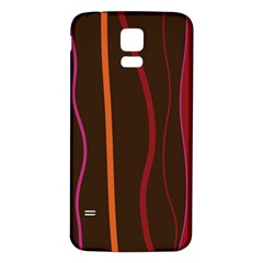 Colorful Striped Background Samsung Galaxy S5 Back Case (White)