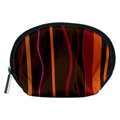Colorful Striped Background Accessory Pouches (Medium)
