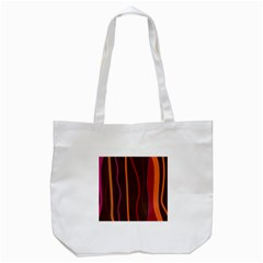 Colorful Striped Background Tote Bag (White)