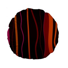 Colorful Striped Background Standard 15  Premium Flano Round Cushions