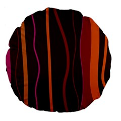 Colorful Striped Background Large 18  Premium Flano Round Cushions