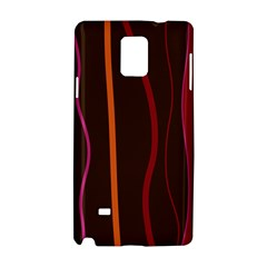 Colorful Striped Background Samsung Galaxy Note 4 Hardshell Case