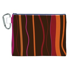 Colorful Striped Background Canvas Cosmetic Bag (XXL)