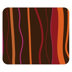 Colorful Striped Background Double Sided Flano Blanket (Small)