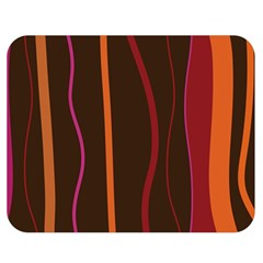 Colorful Striped Background Double Sided Flano Blanket (Medium)