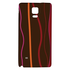 Colorful Striped Background Galaxy Note 4 Back Case