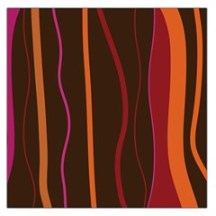 Colorful Striped Background Large Satin Scarf (Square)
