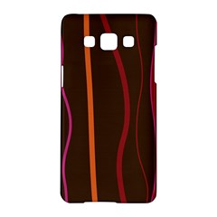 Colorful Striped Background Samsung Galaxy A5 Hardshell Case