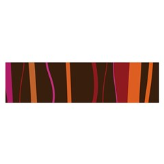 Colorful Striped Background Satin Scarf (Oblong)