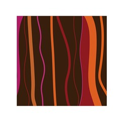 Colorful Striped Background Small Satin Scarf (Square)