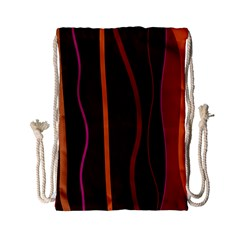 Colorful Striped Background Drawstring Bag (Small)