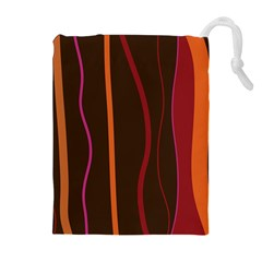 Colorful Striped Background Drawstring Pouches (Extra Large)