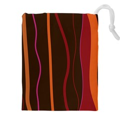 Colorful Striped Background Drawstring Pouches (XXL)