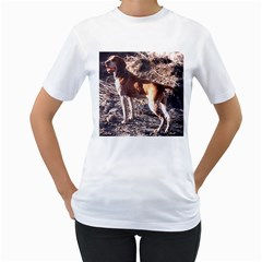 Bracco Italiano Full 2 Women s T-Shirt (White) (Two Sided)