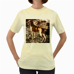 Bracco Italiano Full 2 Women s Yellow T-Shirt