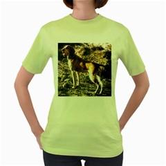 Bracco Italiano Full 2 Women s Green T-Shirt