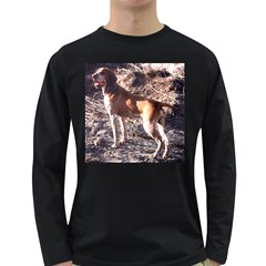 Bracco Italiano Full 2 Long Sleeve Dark T-Shirts