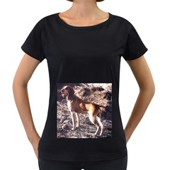Bracco Italiano Full 2 Women s Loose-Fit T-Shirt (Black)