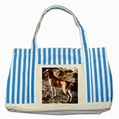 Bracco Italiano Full 2 Striped Blue Tote Bag