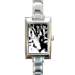 Lion  Rectangle Italian Charm Watch