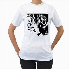 Lion  Women s T-Shirt (White) (Two Sided)