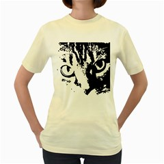 Lion  Women s Yellow T-Shirt