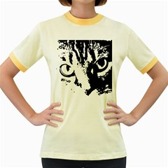 Lion  Women s Fitted Ringer T-Shirts