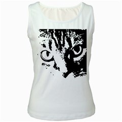 Lion  Women s White Tank Top