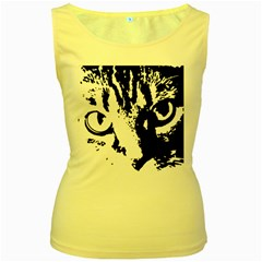 Lion  Women s Yellow Tank Top