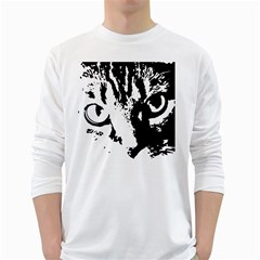 Lion  White Long Sleeve T-Shirts