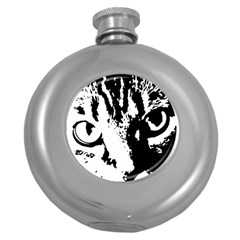 Lion  Round Hip Flask (5 oz)