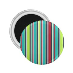 Colorful Striped Background. 2.25  Magnets