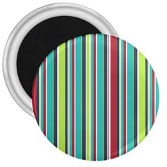 Colorful Striped Background. 3  Magnets