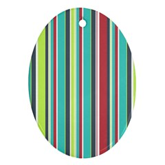 Colorful Striped Background. Ornament (Oval)